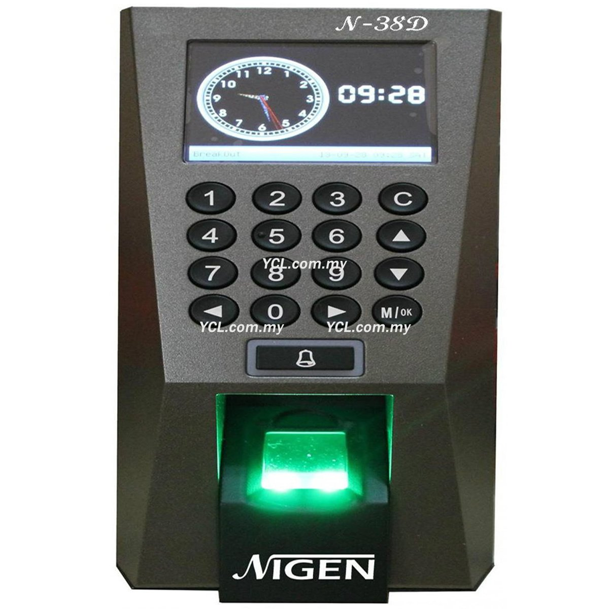 Nigen N-38D Fingerprint Time Attendance System with Door Access
